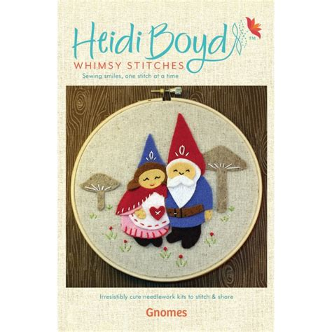felt applique kits gnomes felt applique kit whimsy stitches at weekend kits