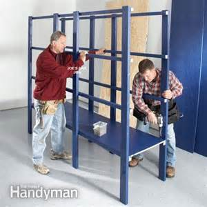 building a garage storage wall the family handyman