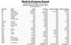 Work Progress Report Template Job Costing Software For The Uk Construction Industry