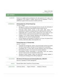 Catering Administrative Assistant Sle Resume by Catering Supervisor Cv Ctgoodjobs Powered By Career Times