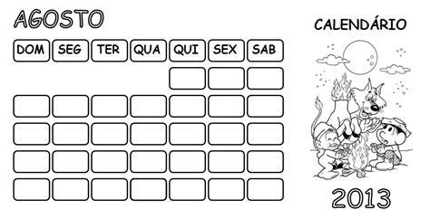 Calendario Q 48 Atividades Escolares Calend 225 2013 Agosto