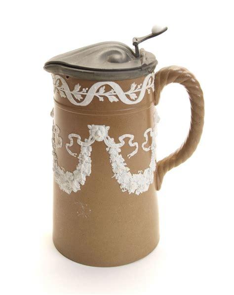 White Coffee 1 Renteng brown white jasperware coffee pitcher w