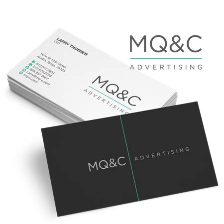 Business Card Template With And Logo by Business Card Logos Get A Custom Logo For Business Cards