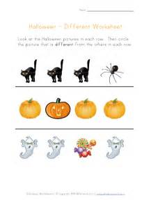 halloween worksheet things that are different