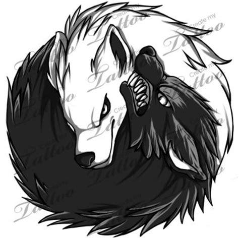 yin yang wolf tattoo marketplace yin yang wolves 5357