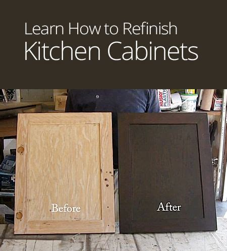 diy refinishing kitchen cabinets how to refinish kitchen cabinets diy pinterest