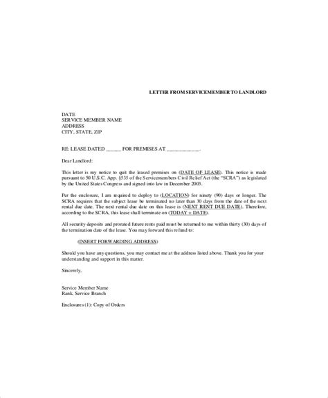 termination letter template word lease termination letter gplusnick