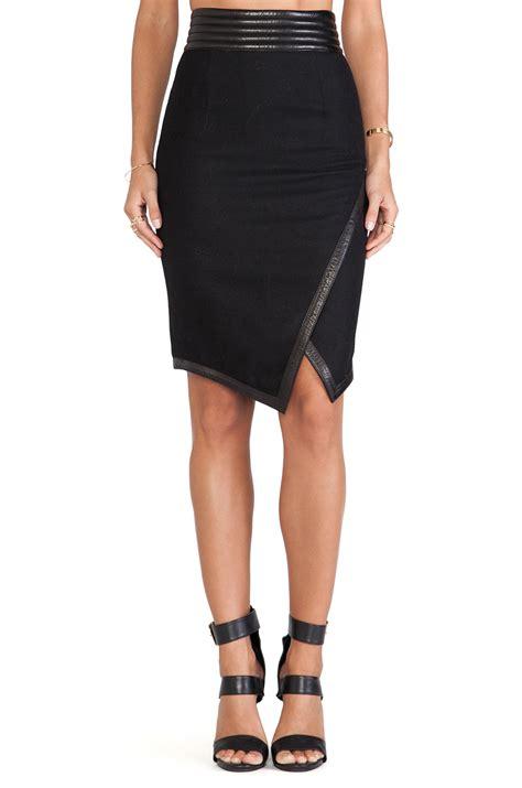 skingraft wool pencil skirt in black lyst