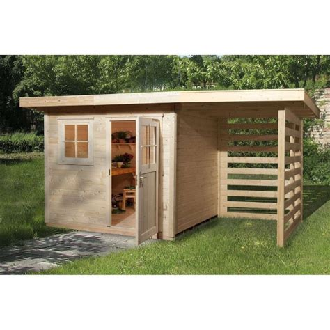 abri de jardin avec appentis bois abri de jardin en bois quot schongau 2 quot 233 paisseur 28 mm avec toit plat porte simple fen 234 tre