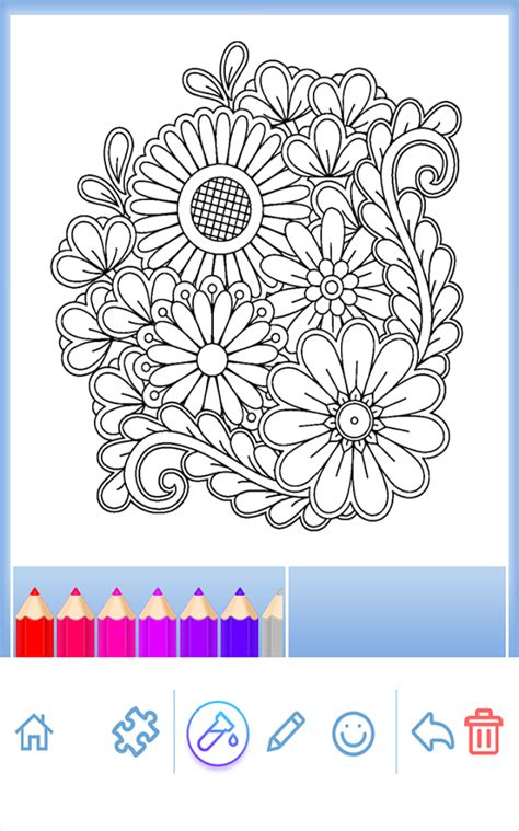 mandala coloring book app flowers mandala coloring book android apps on play