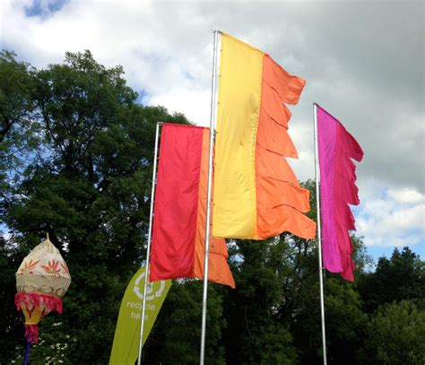Form Decor Silk Standard Flags The Event Flag Hire Company