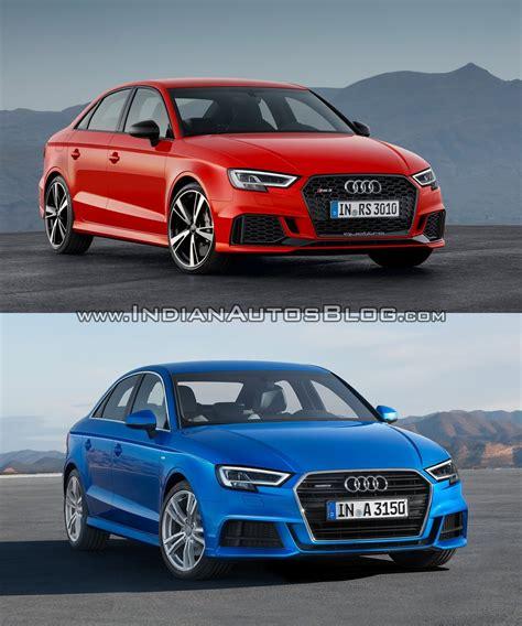 audi a3 sedan audi rs3 sedan vs audi a3 sedan in images
