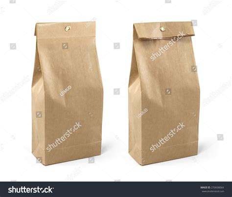 brown paper bag pattern brown paper bag packaging template isolated on white