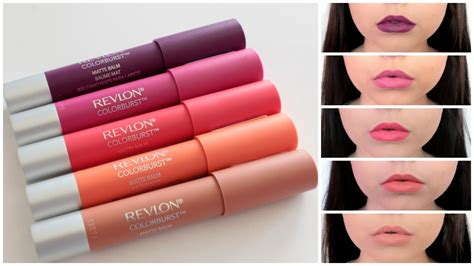 Lipstik Revlon Original mini review lip swatches revlon colorburst matte balms