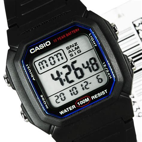 Casio W 60u World Time Vintage casio digital w 800h 1avdf classic mens 100 m w 800h 1a