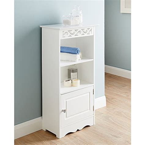 free standing bathroom storage camille free standing two shelves and 1 small door