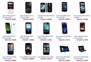 Mobile Price List Acer Mobile Price List In India 2011 With Picture Find