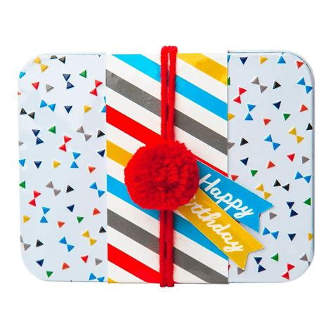 Happy Smart Card Holders by Happy Birthday Gift Card Tin The Container Store