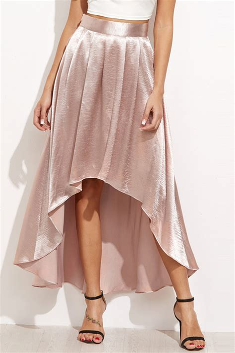 light pink pleated skirt light pink pleated high low chic skirt 031914 skirts
