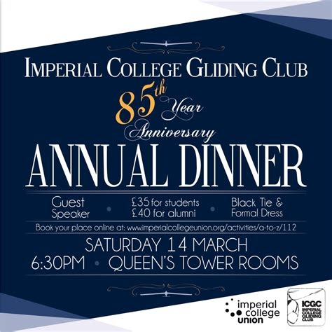 annual dinner invitation card template imperial college gliding club 187 save the date march 14th