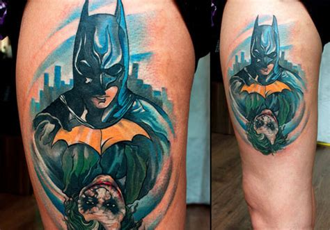 tattoo batman joker 31 lively batman tattoos creativefan
