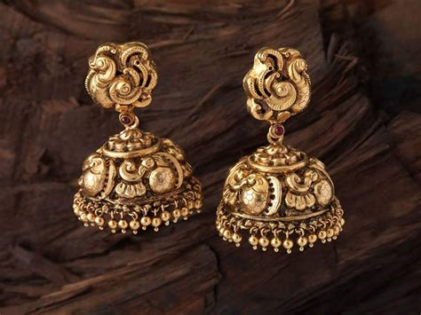 new pattern gold earrings antique gold jhumkas collection new pattern