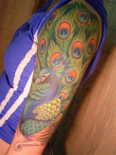 peacocks tattoo gips peacock feather