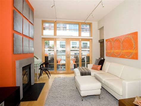 orange and gray living room photos hgtv