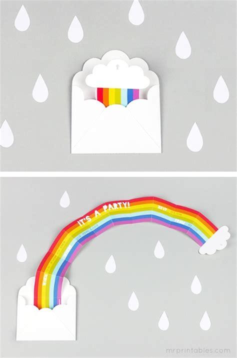 free printable invitation rainbow teaandceremony diy surprise rainbow party invitation