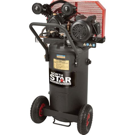 northstar single stage portable electric air compressor 2 hp 20 gallon vertical 5 0 cfm