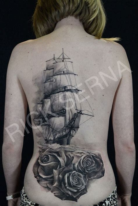 clipper ship tattoo ship tattoos back and ships on