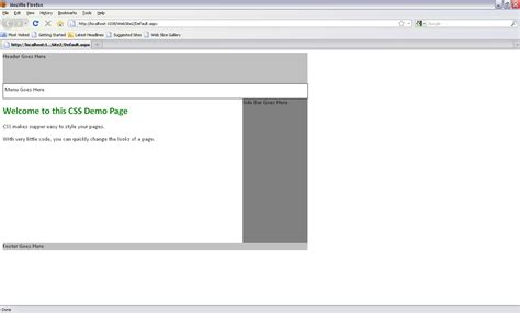 web page sections designing a web page with different sections in asp net 4