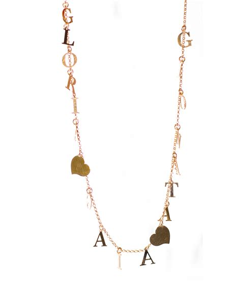 collane con lettere collana personalizzata con lettere pendenti gaia bijoux