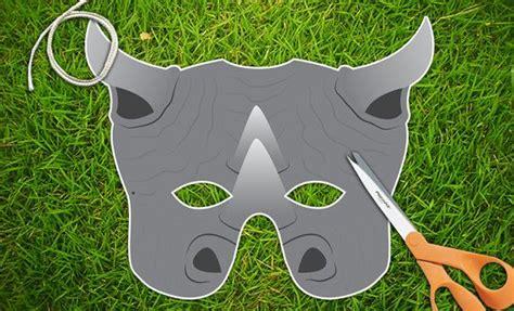 printable rhino mask rhinoceros rhino mask printable party mask halloween