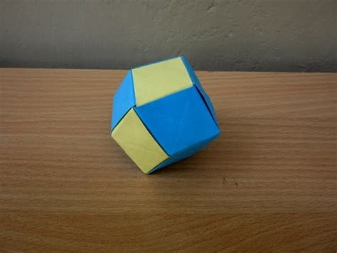 How To Make A Dodecahedron Out Of Paper - how to make a paper rhombic dodecahedron