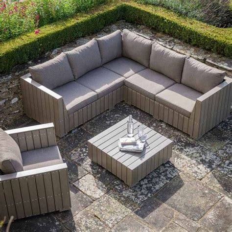 big sofa landscape bosham outdoor corner sofa set in polywood garden