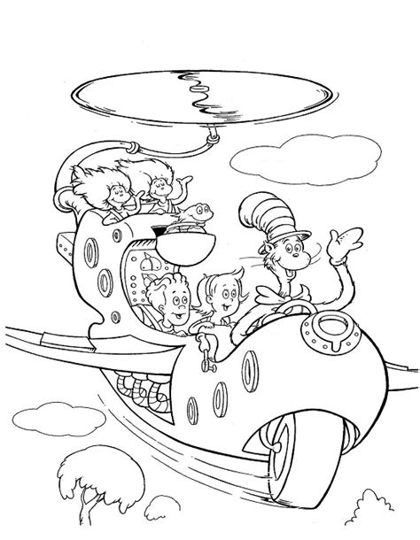 printable cat in the hat coloring pages coloring me