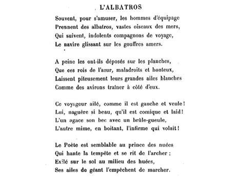 spleen baudelaire testo charles baudelaire l albatros poetry