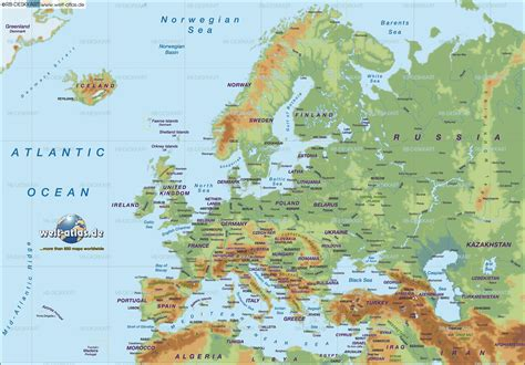 physical maps of europe physical map of europe mapsof net