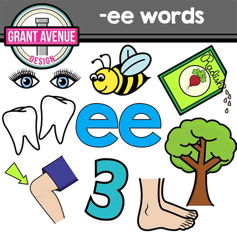 clipart words grant avenue design vowel teams clipart ee vowel