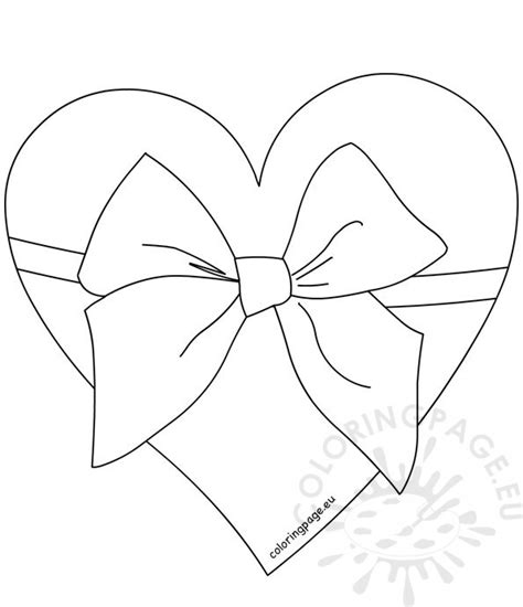 big bow coloring page hearts with ribbons coloring pages www pixshark com