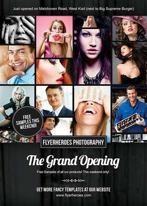 photography flyers templates free freepsdflyer free grand opening photography