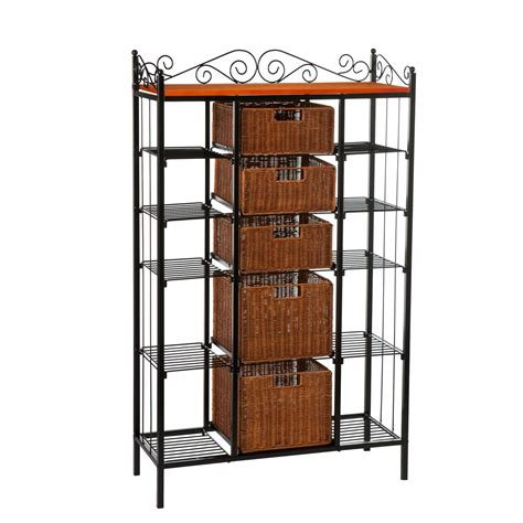 Bakers Rack For Kitchen by Sei Manilla 5 Drawer Baker S Rack Kitchen
