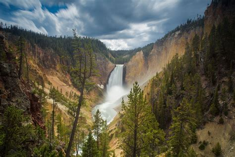 yellowstone national park wallpapers hd wallpapers id canyon junction wyoming usa lower falls yellowstone