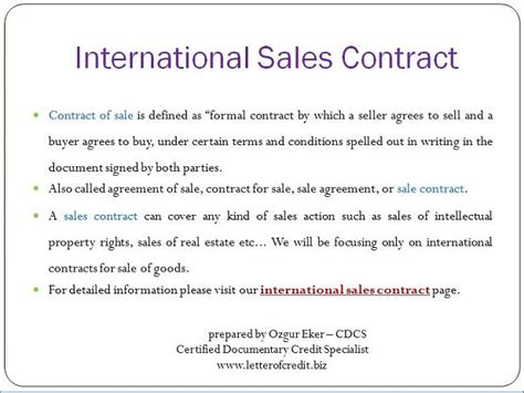 Sales Contract For Letter Of Credit Letter Of Credit Documents Presentation 1 Lc Worldwide
