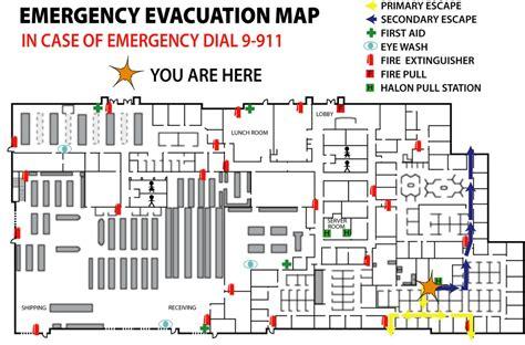 emergency evacuation maps precision floor plan image gallery evacuation map