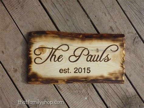 Handmade Signs - buy handmade rustic name sign with burned edges made to