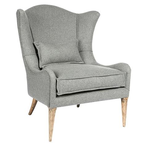 Grey Wingback Chair by Gray Wingback Curved Occasional Chair