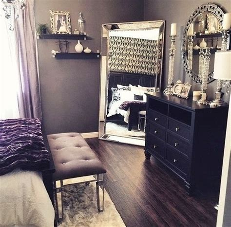 romance in bedroom in hollywood mirror black dressers and silver candles on pinterest