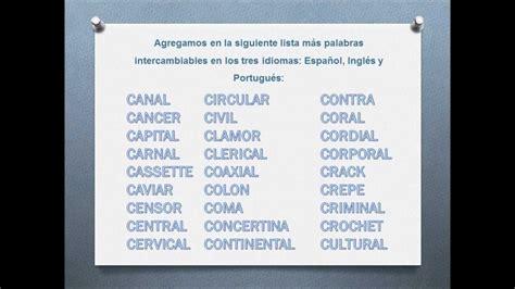 palabras con la letra c c ejemplos de palabras con c spanish english portuguese lista de palabras